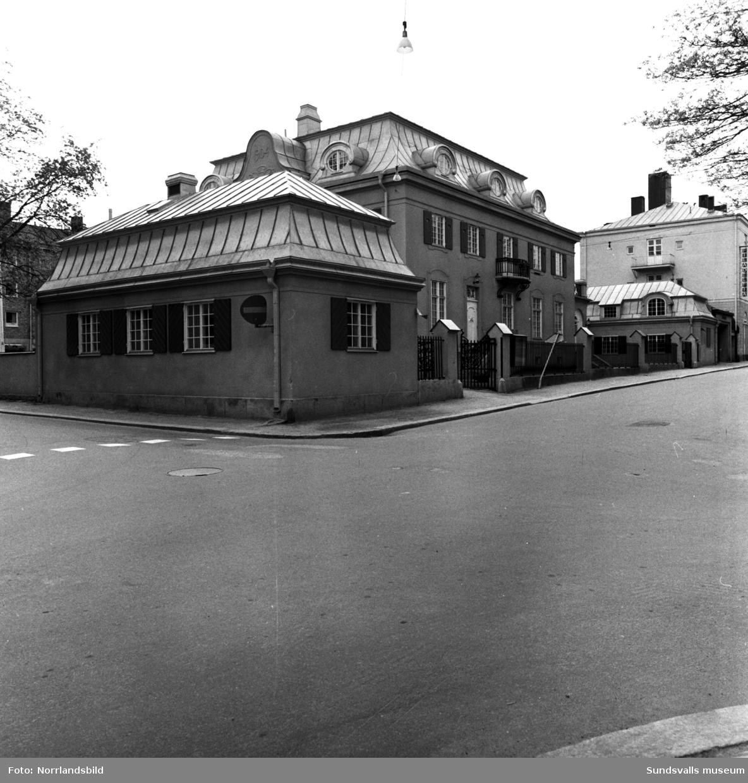 Fastigheten Port Arthur, som tidigare varit kyrkans församlingshem, vid Rådhusgatan 35.