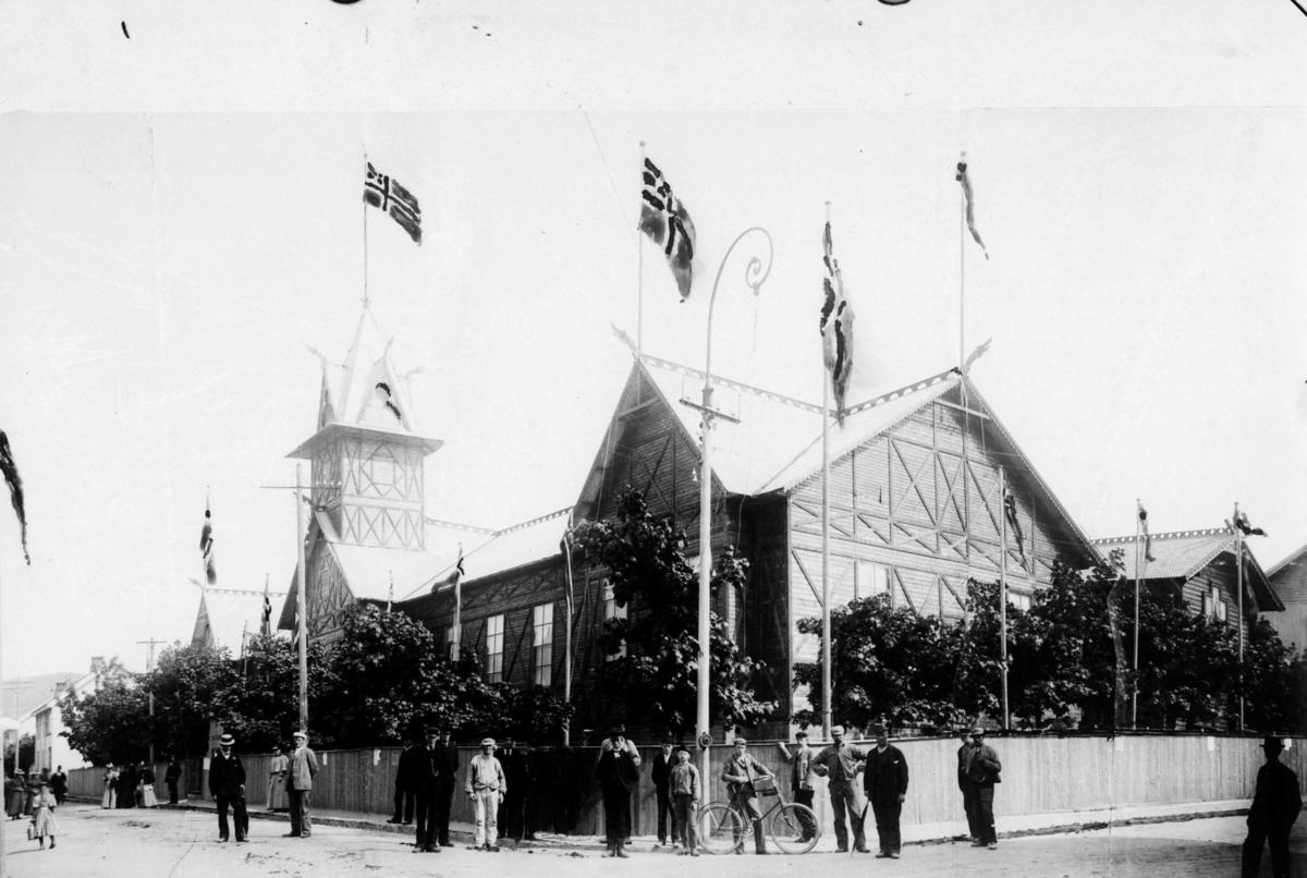 Utstillingsbygg på Stortorget 1897, amtsutstilling