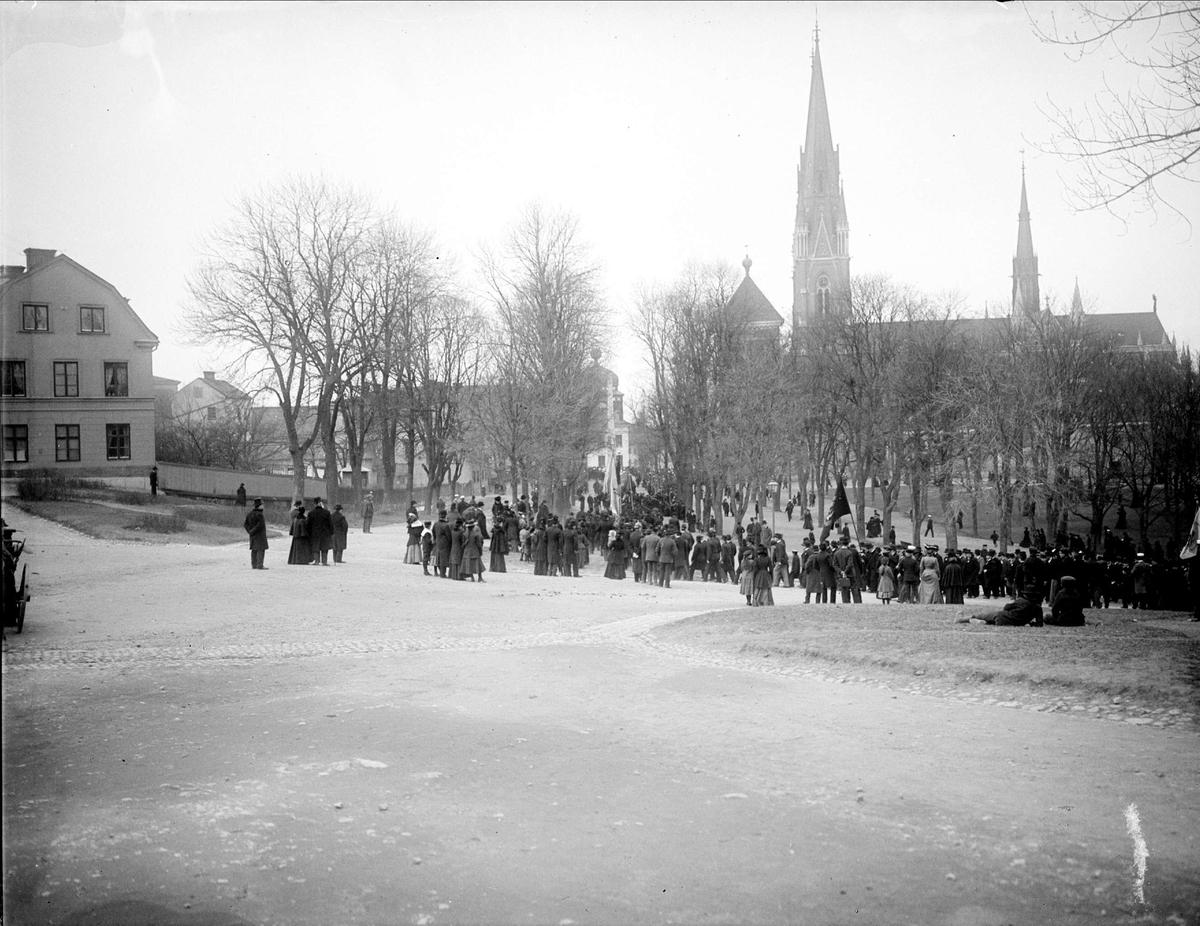 Demonstration vid Odinslund, Uppsala