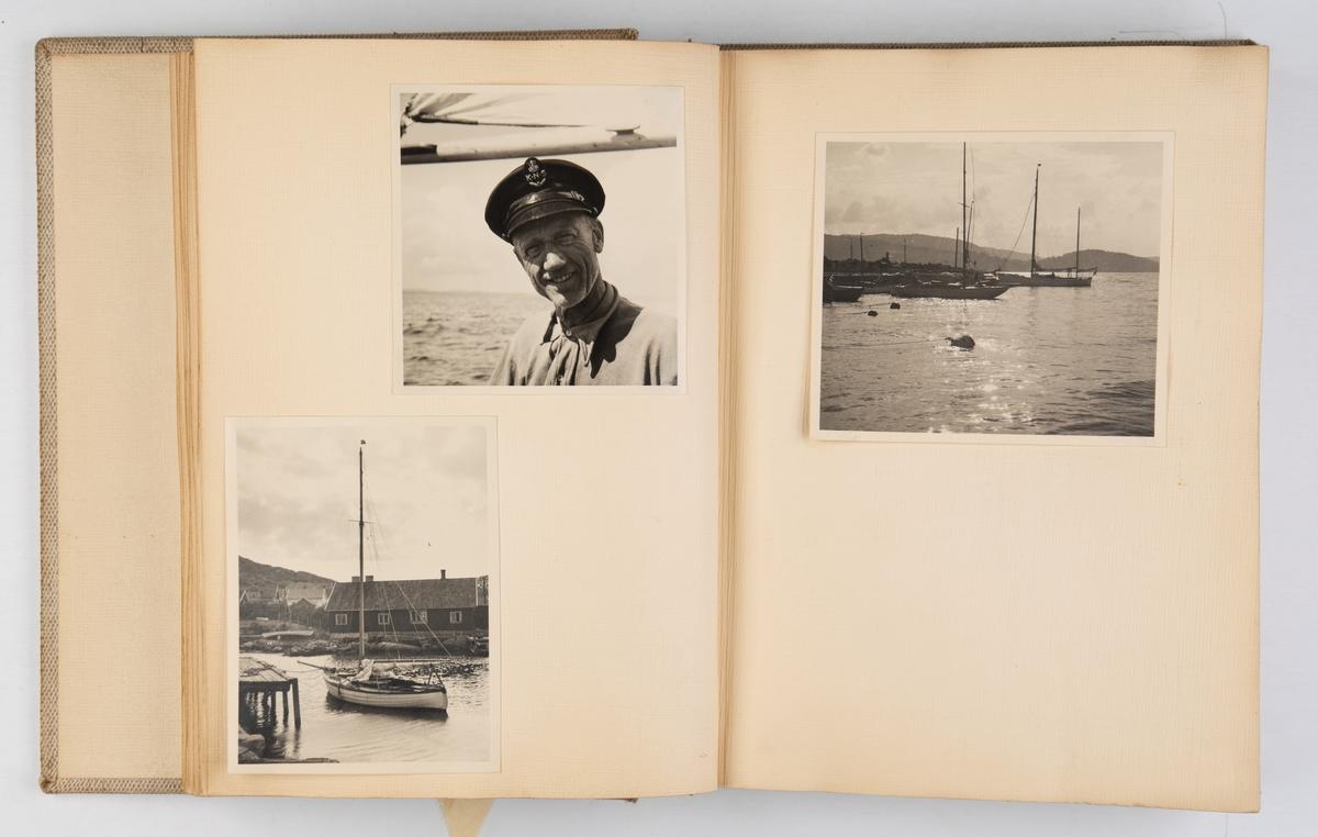 Album med fotografier fra seilturer med F 26 'Draug' i Norge og utlandet.