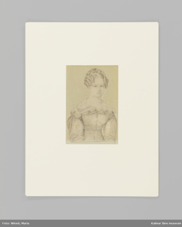 Porträttet är ett självporträtt föreställande konstnären, Sophie Adlersparre, själv.