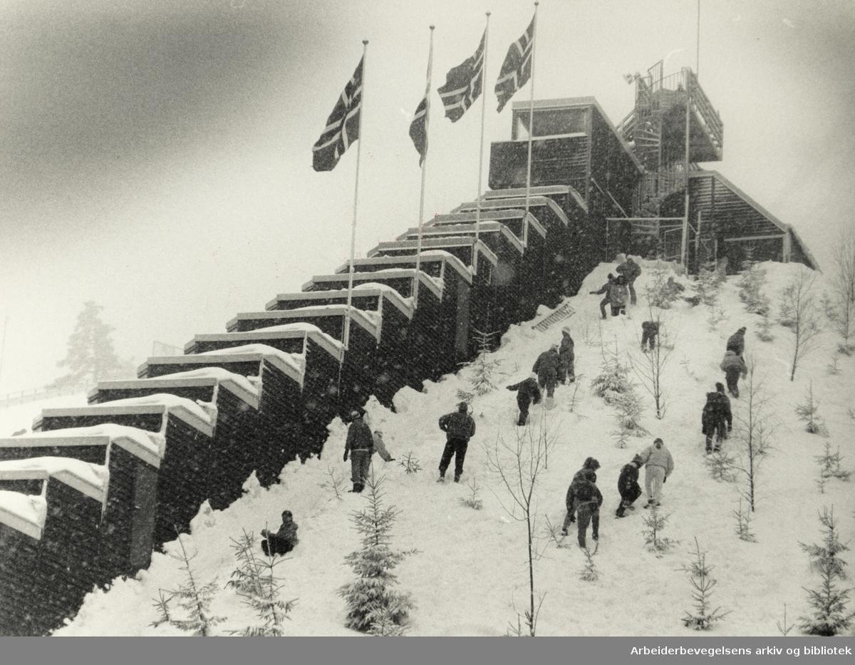 Holmenkollbakken. 21. mars 1988