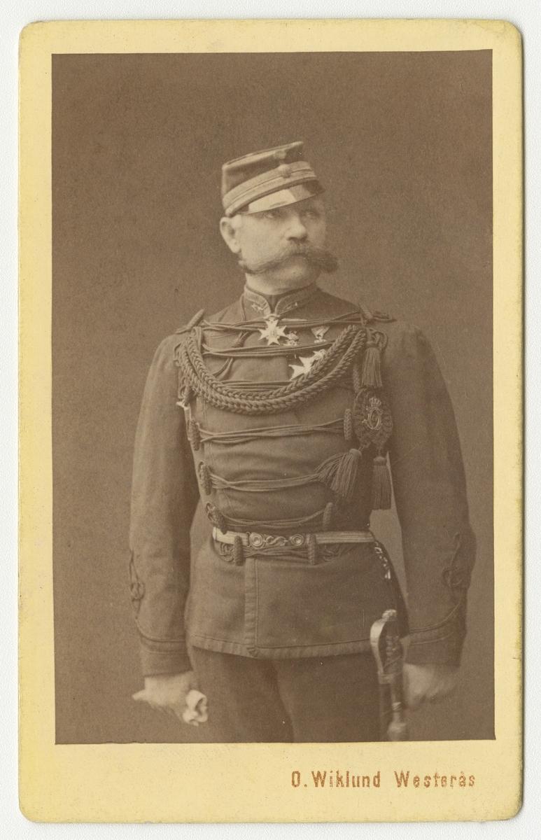 Porträtt av Per Philip Jacob Walloddi Fischerström, överstelöjtnant vid Husarregementet kung Karl XV.