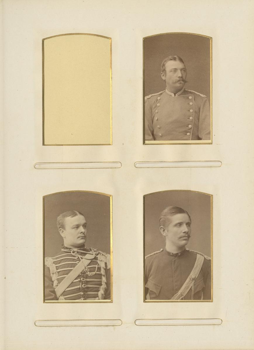 Porträtt av Lars Ohlin, officer vid Skånska dragonregementet K 6.
