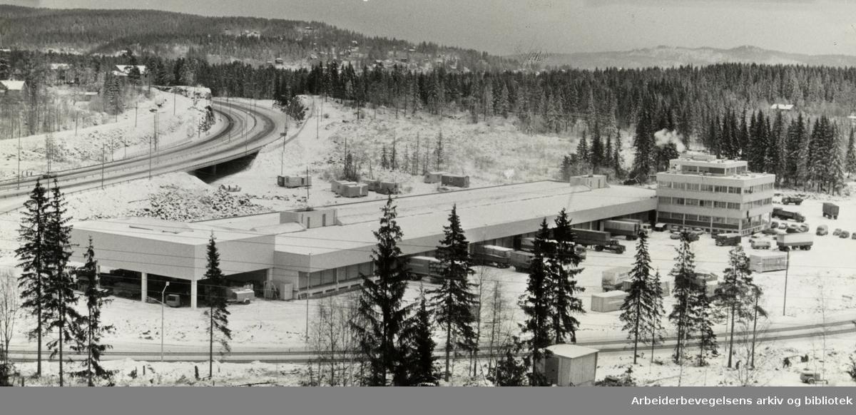 Karihaugen, Godsterminalen. Desember 1970