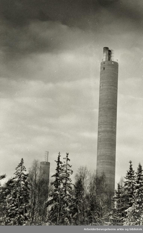 Klemetsrud. Resirkuleringsanlegget, REO. April 1986