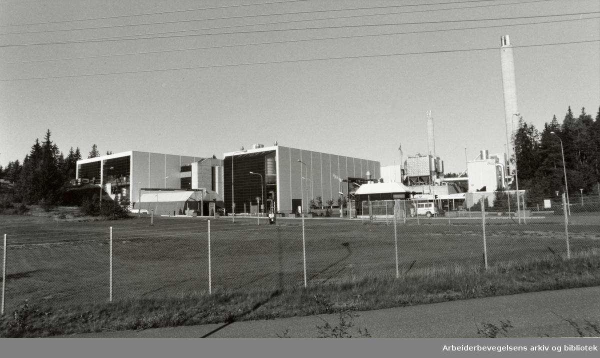 Klemetsrud. Resirkuleringsanlegget, REO. September 1992