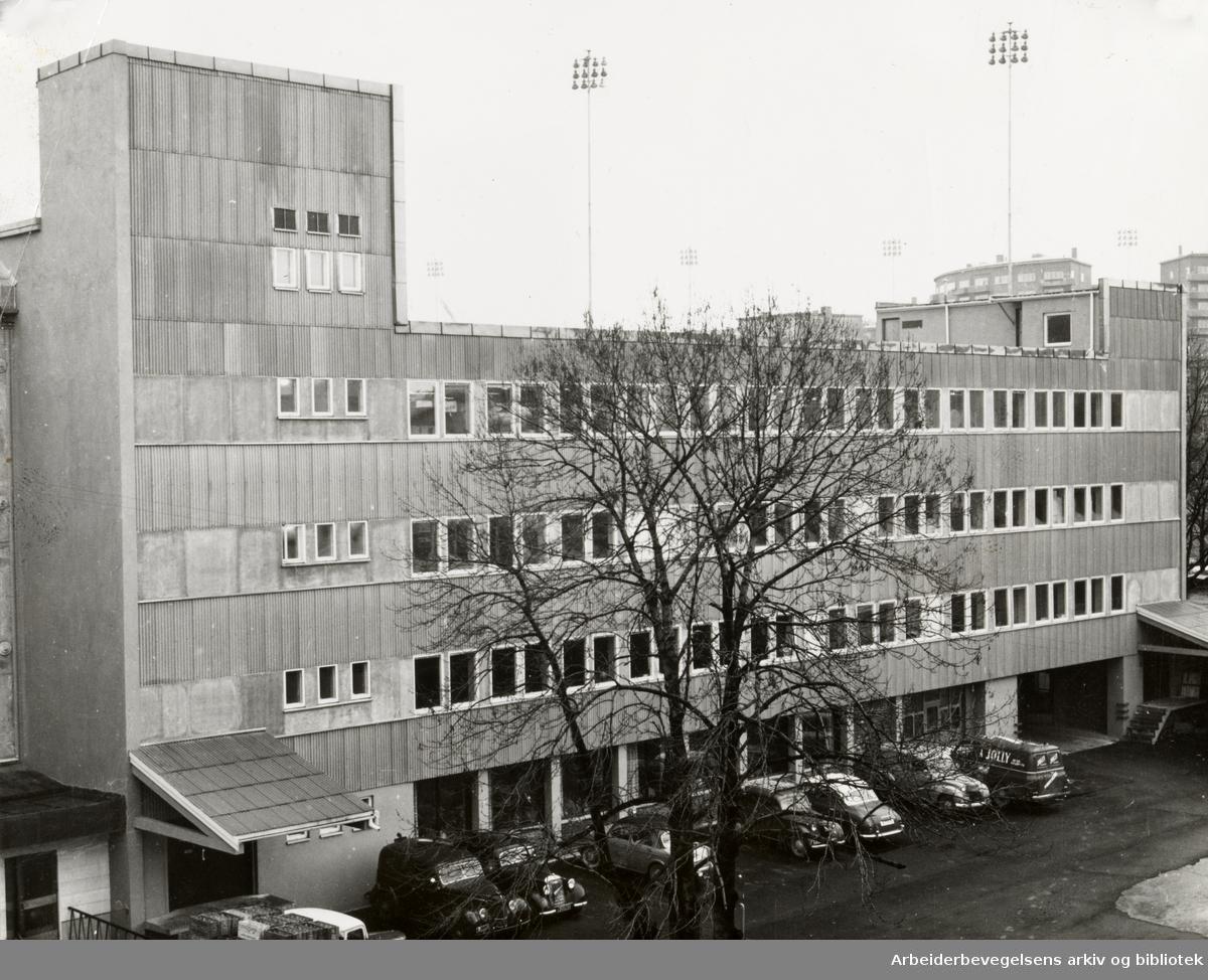 Landgaards tobakksfabrikk. Mars 1960