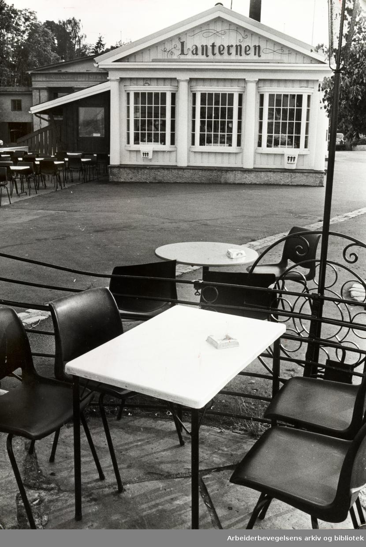 Lanternen restaurant. August 1978