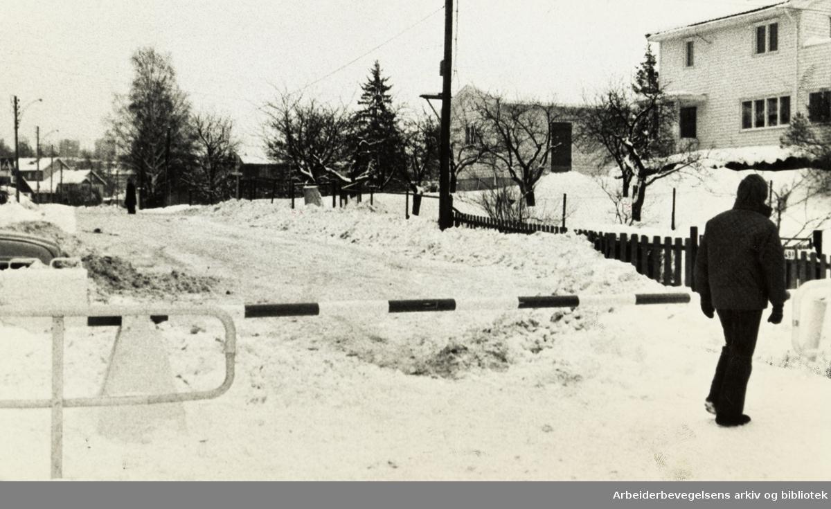 Lofthus-bommen. Februar 1976