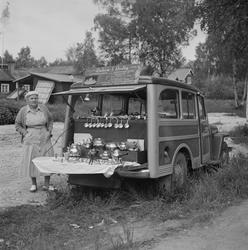 Motiv: midsommarfirande i Rättvik - Leksand ; En pojke i fo