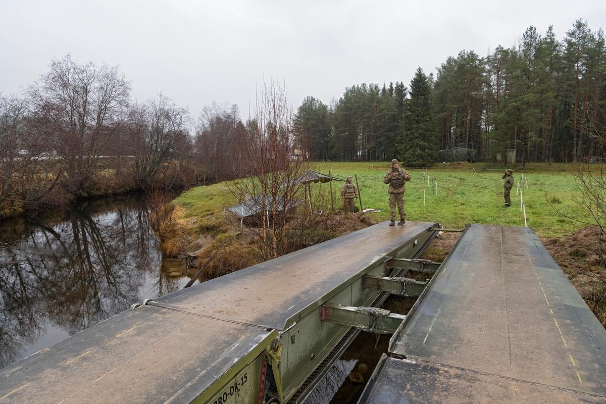 Fra Nato-øvelsen Trident Juncture, hvor soldater fra Nato-alliansen øvde sammen på å forsvare Norge.