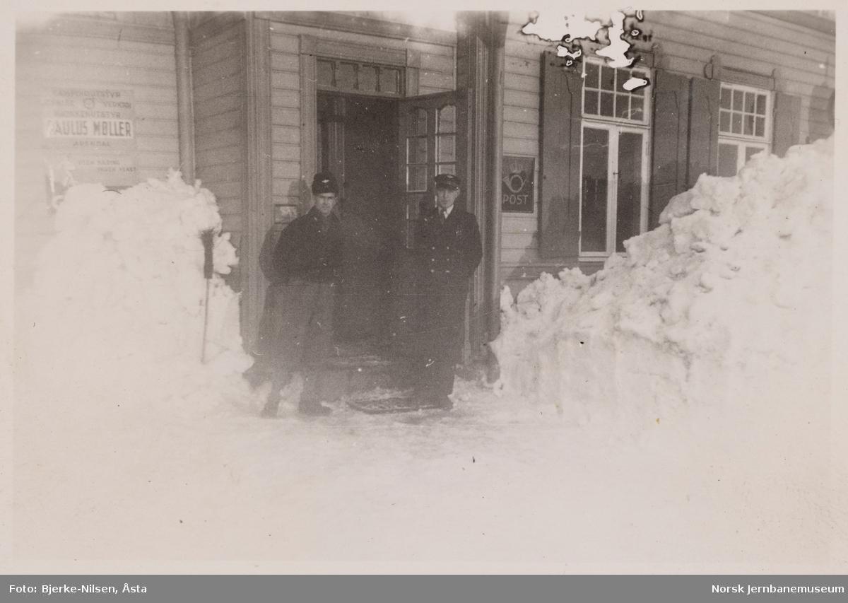 Rise stasjon vinteren 1948