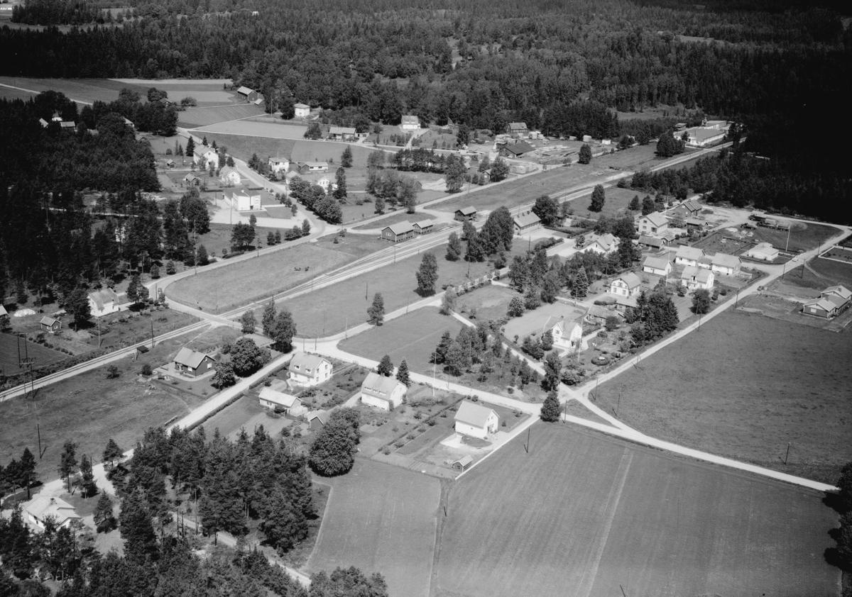 Flygfoto över Hånger i Värnamo kommun, Jönköpings län. Nr: 294/1961