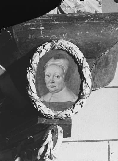 Detalj i epitafium över Petrus Dalecarlus, Västerås Domkyrka.