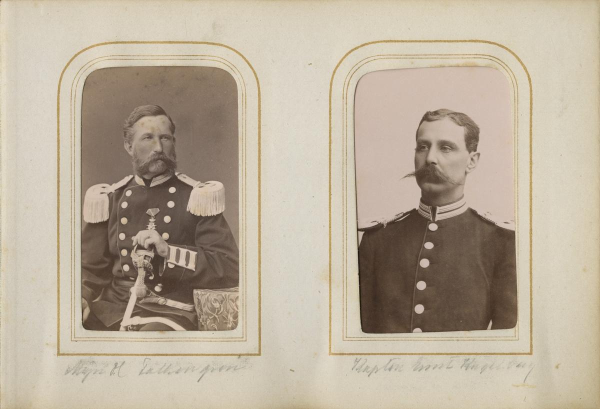 Porträtt av Gustaf Henrik Falkengréen, officer vid Andra livgrenadjärregementet I 5.  Se även bild AMA.0007276.