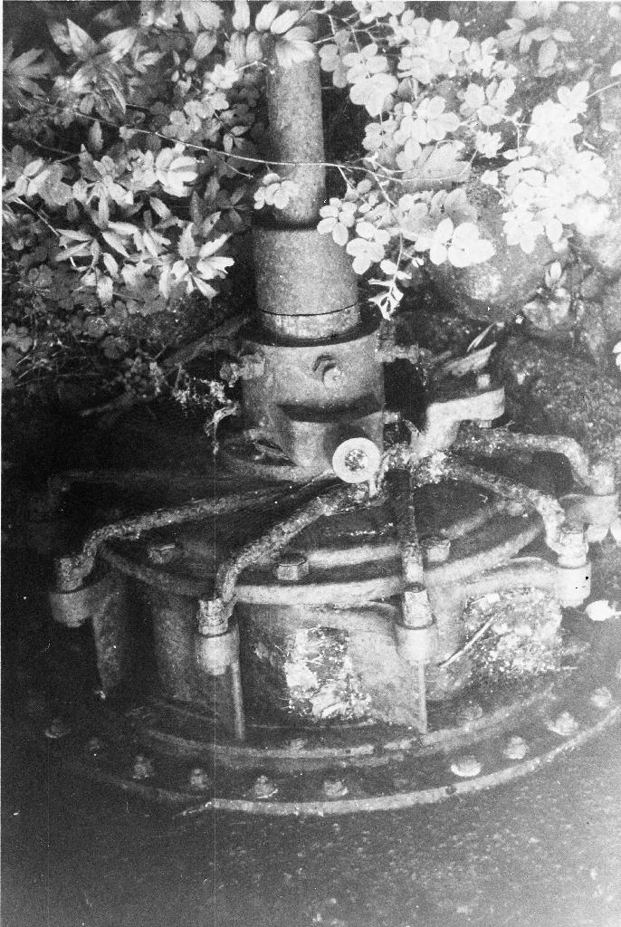 Turbinen i el-verket på Garpestad. Sjå også 1990.1TIM.1.072