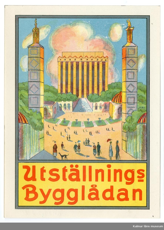 Entrén till Jubileumsutställningen i Göteborg 1923 med Minareterna och Minneshallen.