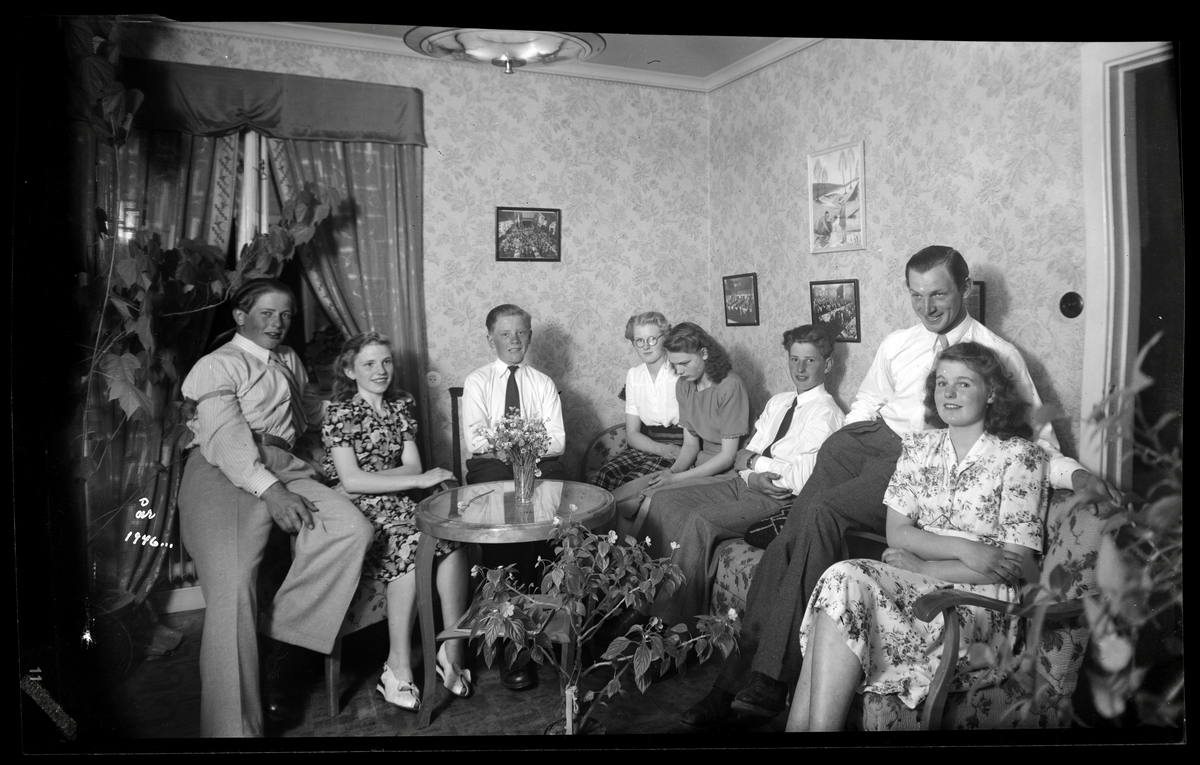 Ungdomar i vardagsrum