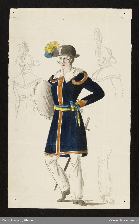 Uniformsbild, tamburinslagare.