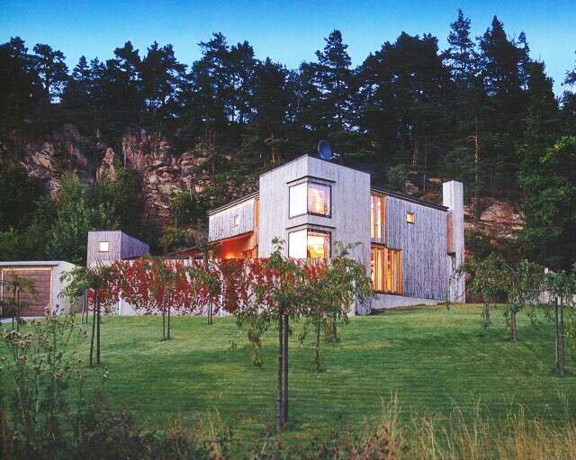 Villa Holme på Holmsbu tegnet av Sverre Fehn.