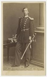 Porträtt av Johan Gotthard August Forssbeck, löjtnant vid An