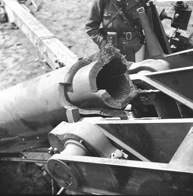 Haubits m/1939. 15 cm. Pjässprängning, Skillingaryd. A 6.