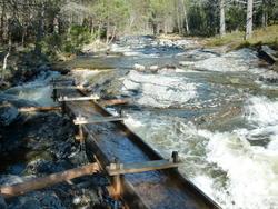 Stampanlegget i Høsa - Dam og renne