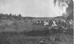 Bivack i Börje socken 1910