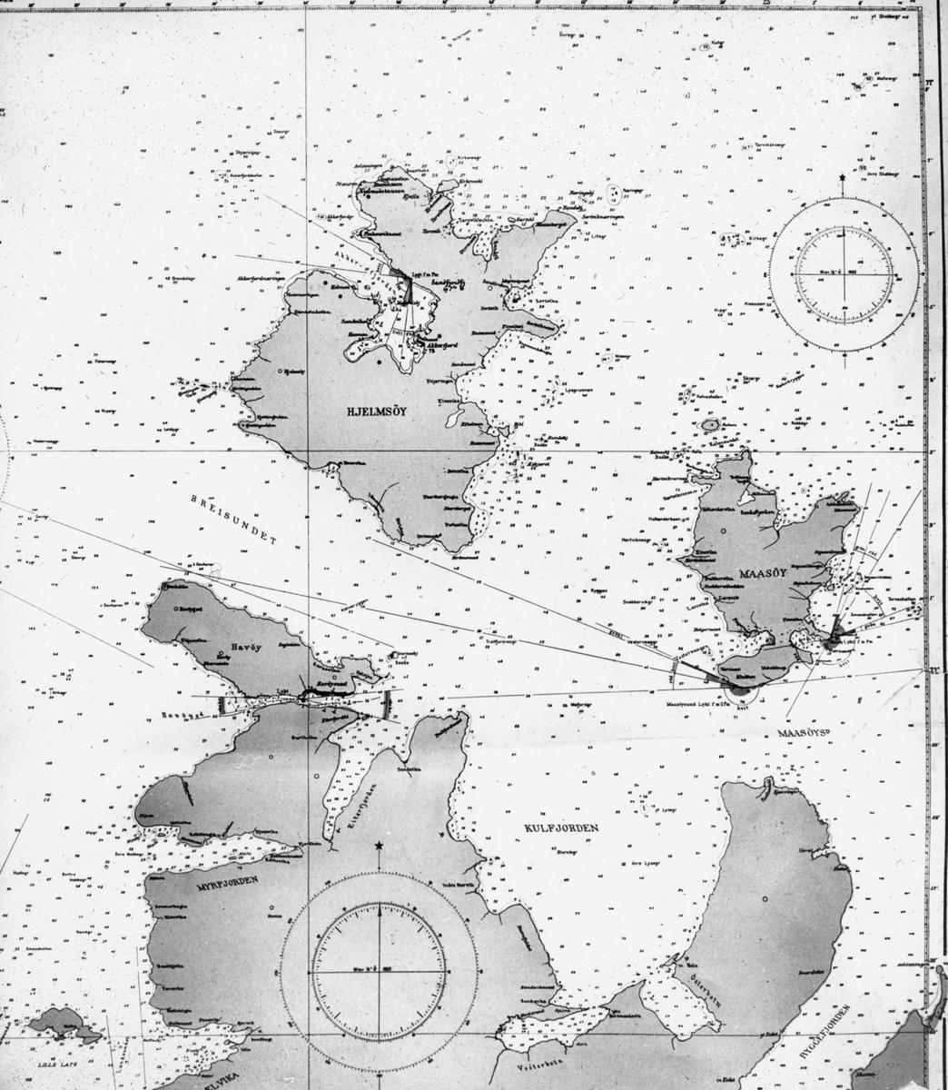 Avfotografert sjøkart