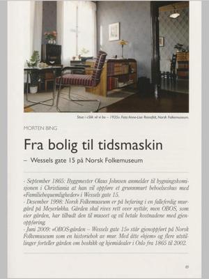 Fra bolig til tidsmaskin. Foto/Photo