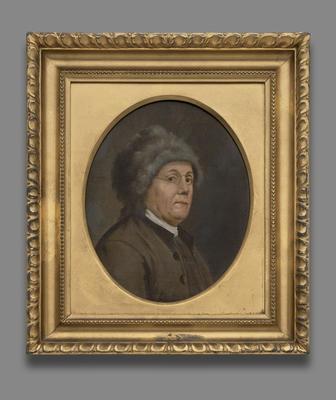 Benjamin Franklin av John Trumbull. Malt 1778. Yale University Art Gallery.