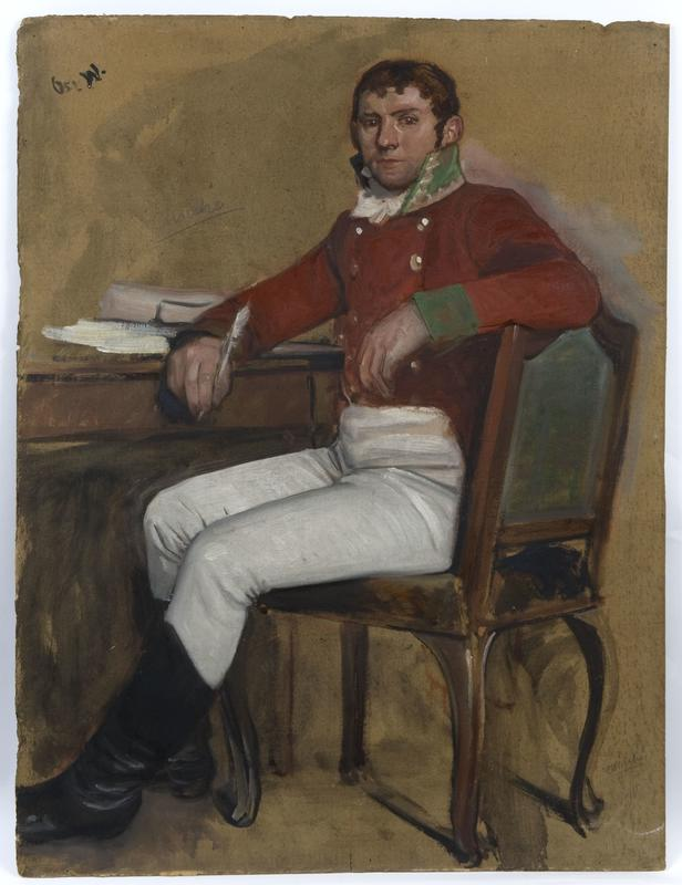 Skisse av Wilhelm Frimann Koren Christie av Oscar Wergeland. 1882-1885. Eidsvoll 1814