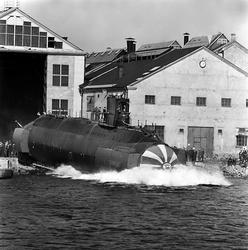 Varvet runt- en bildutställning Ubåten Sjöbjörnen sjösattes