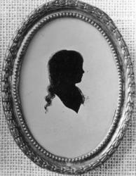 Silhuett fra  1792 i utstillingen 1922. (Foto/Photo)
