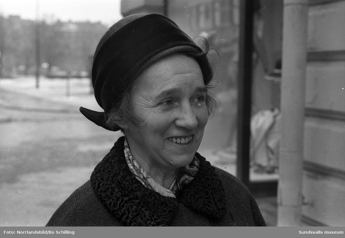 Enkät i Expressen om mordet på president Kennedy, porträttbilder. 1: Bo Fastén, 2: Lena Örtqvist, 3: Nancy Medelberg, 4: Leif Wyöni, 5: Bertil Edlund.
