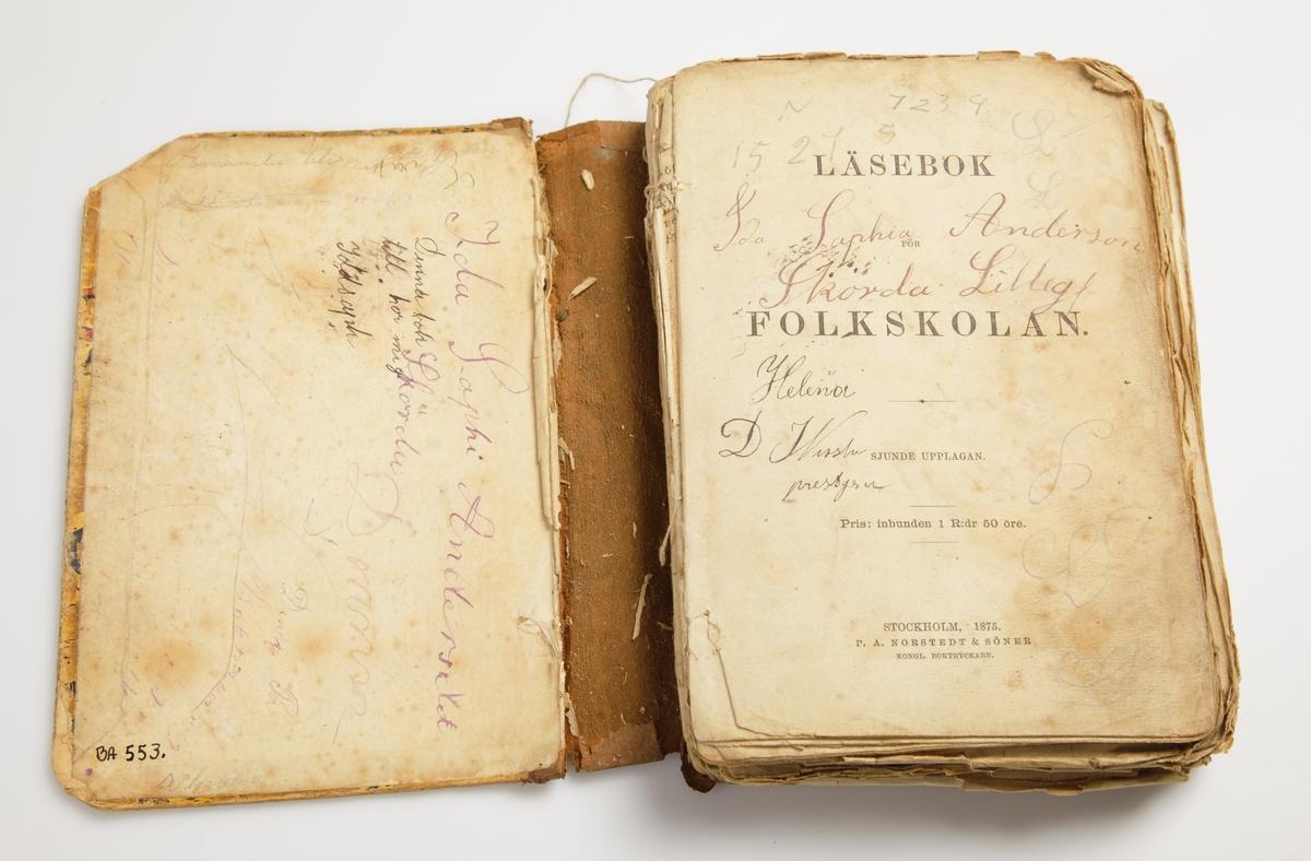 Stockholm 1875. P.A. Norsredt. Sjunde upplagan. Pappband.