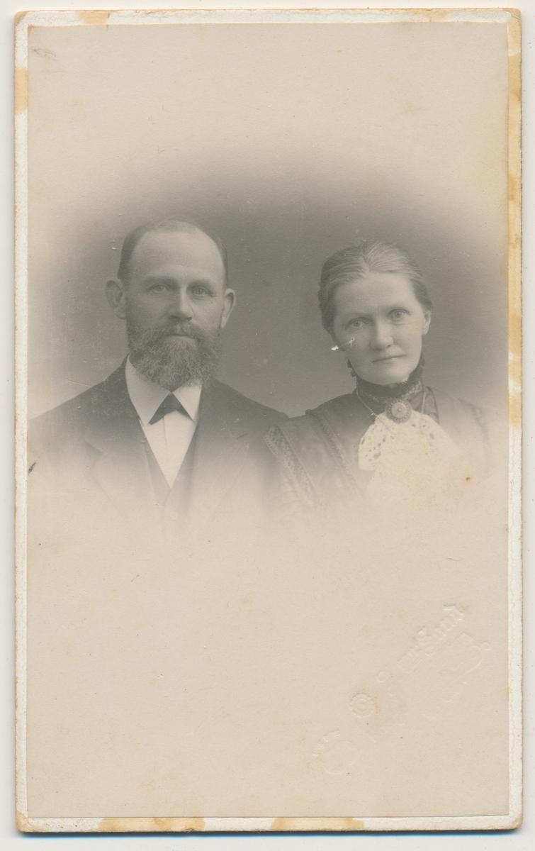 Portrett av voksent par, ukjente