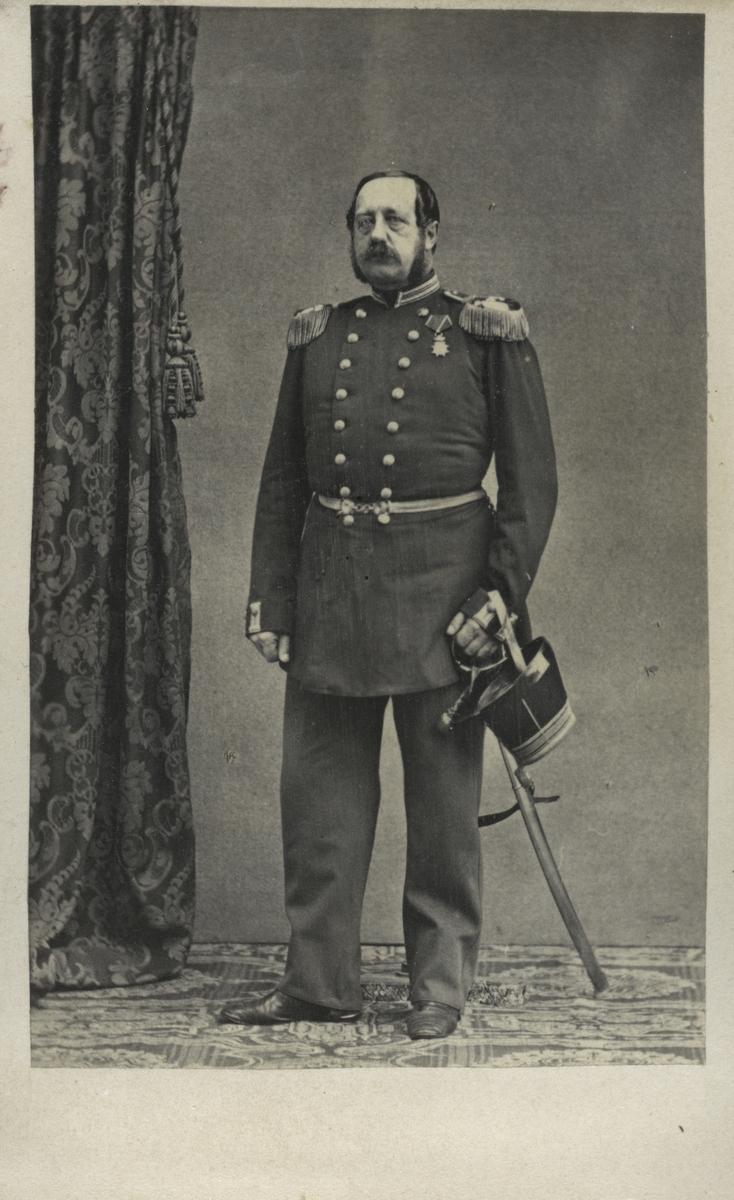 Porträtt av Claes Gustaf Rålamb, överstelöjtnant vid Upplands regemente I 8. Uppgifterna något osäkra.
