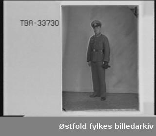 Portrett av tysk soldat i uniform. Josef Heck.  Er dette Oberst ing. Josef Heck fra Østerrike?