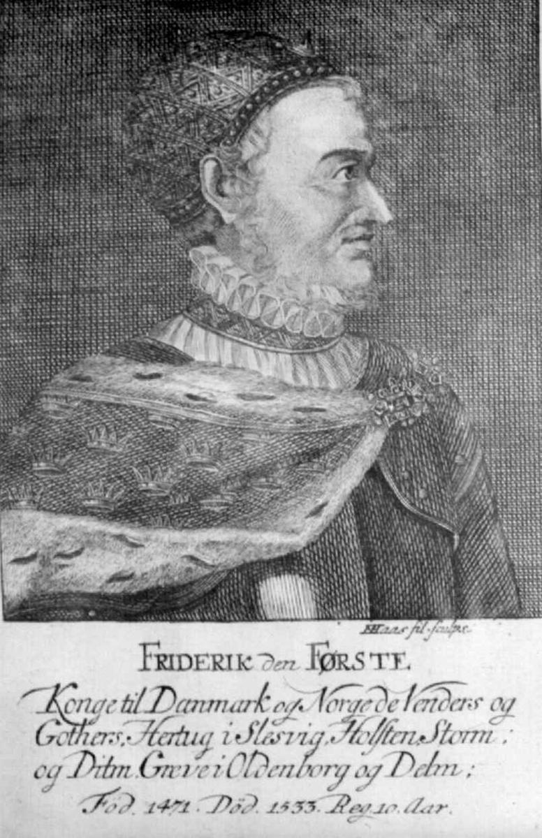 Portrett av Friderik den Første.