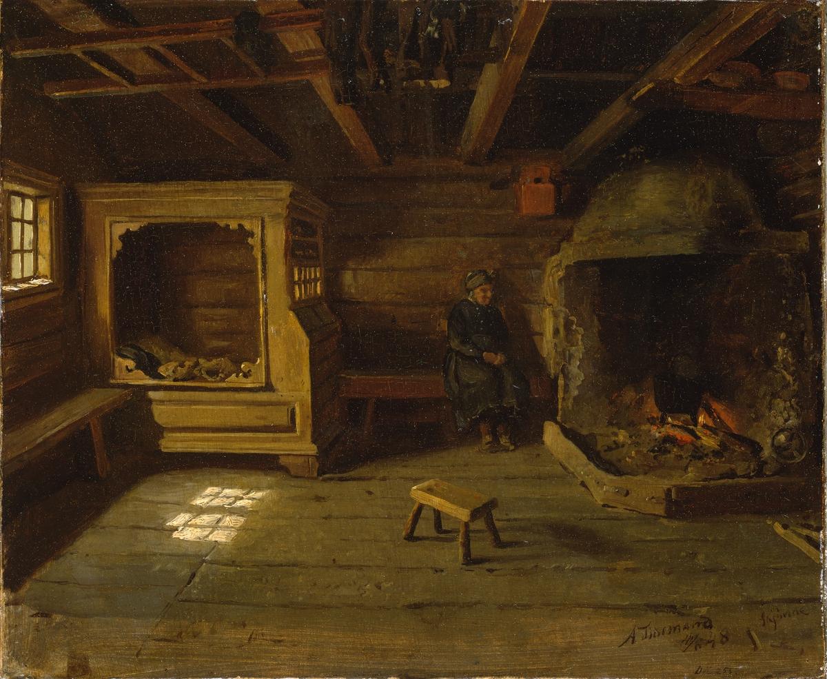 Bondeinteriør fra Skjønne [Maleri]