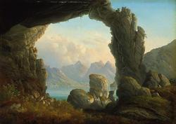Porten ved Omgang i Øst-Finnmark [Maleri]