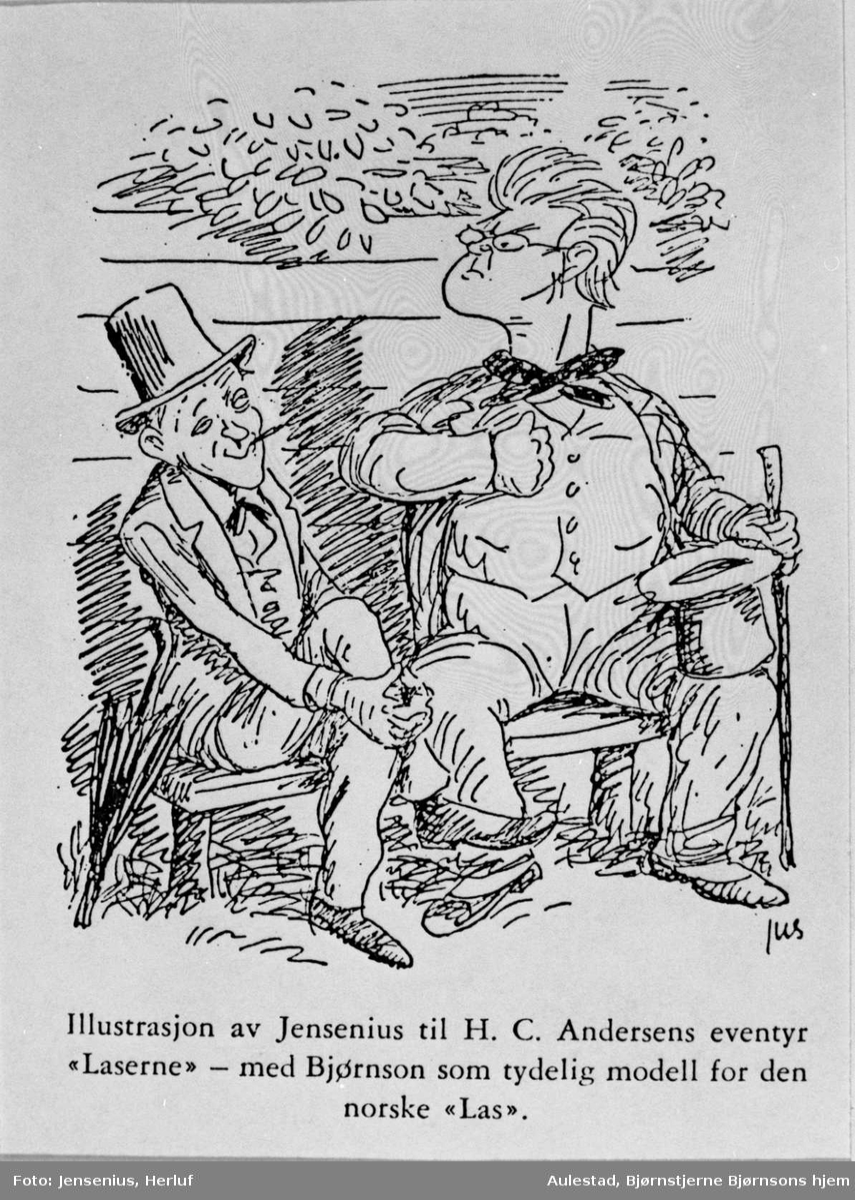 Karikatur, HC Andersen, Bjørnson,