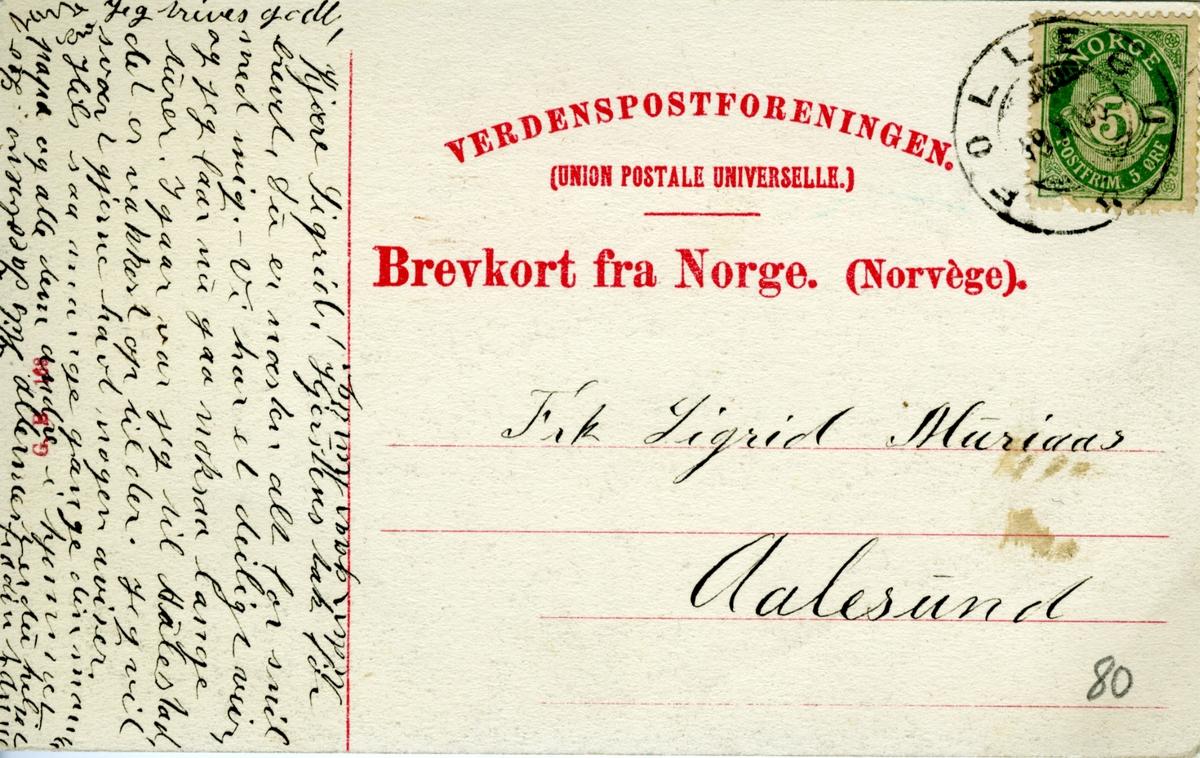 Aulestad, Erlinghuset, brevkort,