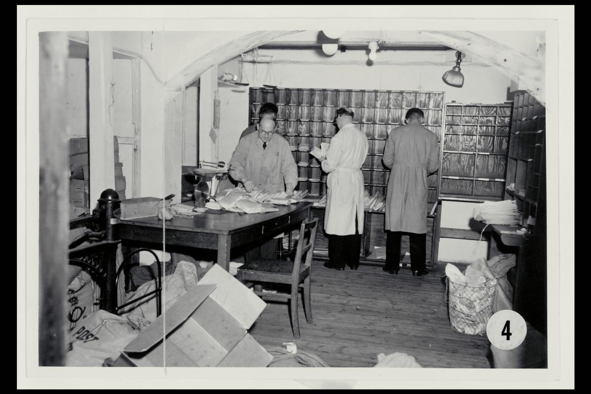 interiør, postkontor, 5002 Bergen, utvekslingskontor, sortering
