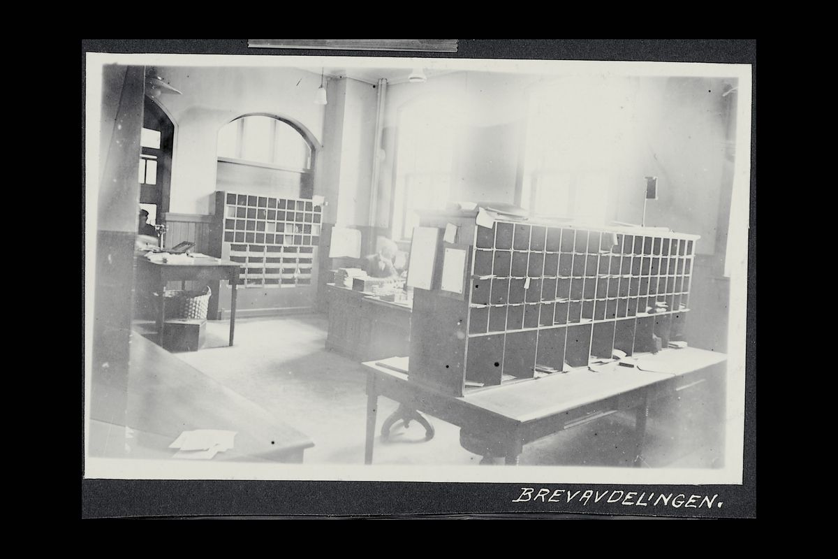 interiør, postkontor, 4001 Stavanger, sortering, brevavdeling