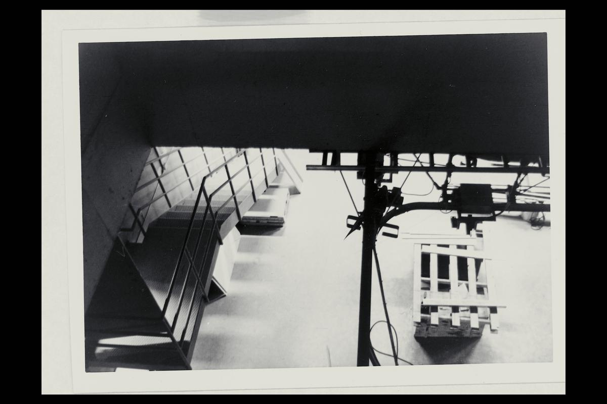 interiør, Oslo postterminal, postgiro, trapp, rom over vaktsjef, transportavdeling, 1. etasje