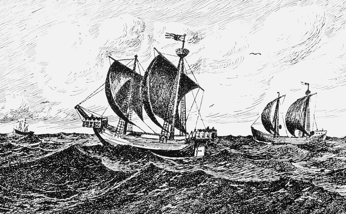 tegning, Bergenske handelskiber