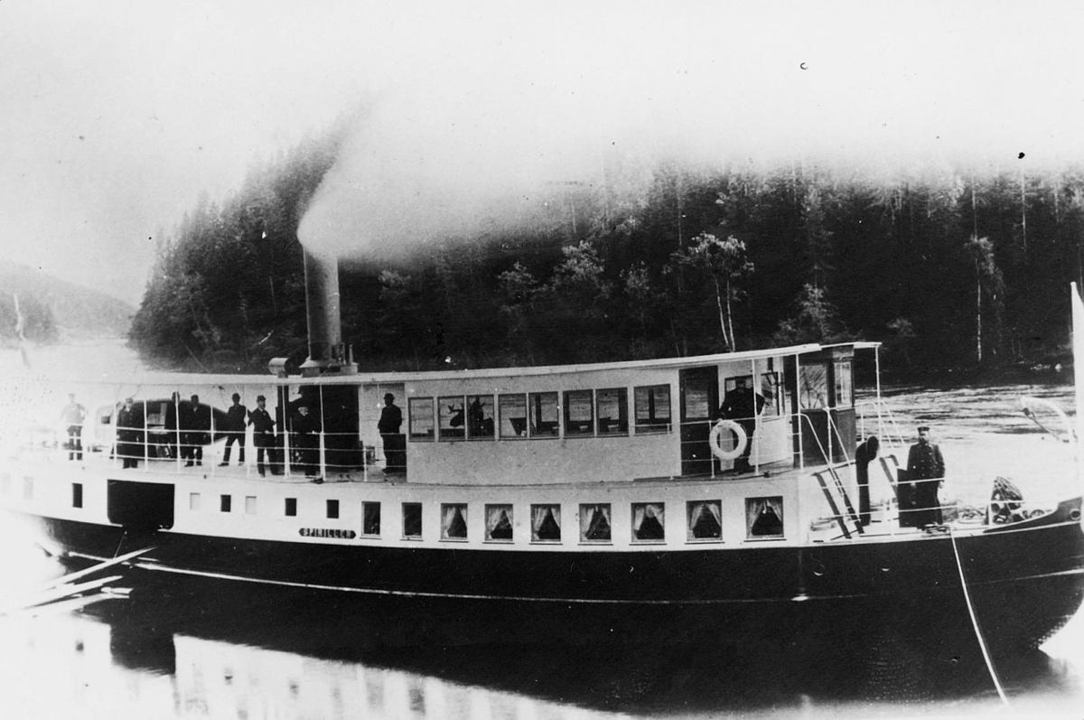 transport, båt, eksteriør, D/S Spirillen, Ådalselva